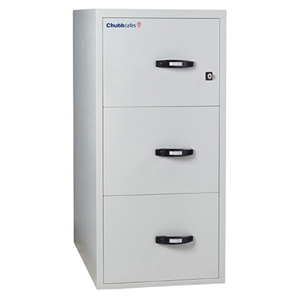 Chubb Profile 3 Drawer Fireproof Cabinet with Key Locking