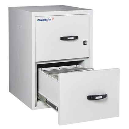 Chubb Profile 2 Hr 2 Drawer Fireproof Cabinet with Key Locking