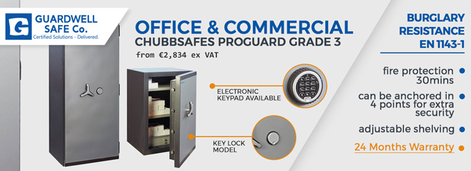 Guardwell Office and Commercial Safes Range