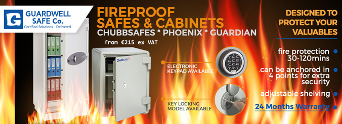 Guardwell Fireproof Safes and Cabinets Range
